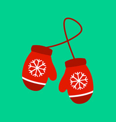pair of knitted christmas vector image
