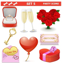 Party Icons Set 5 vector image vector image