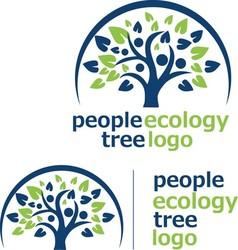 people ecology tree logo 8 vector image