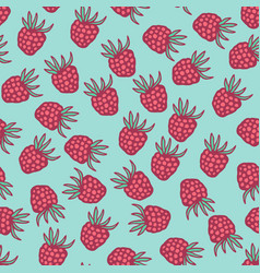 Seamless pattern with berries in retro colors vector