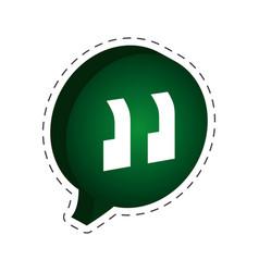 speech bubble chatting cut line vector image
