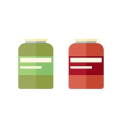 Two glass banks with yellow covers vector