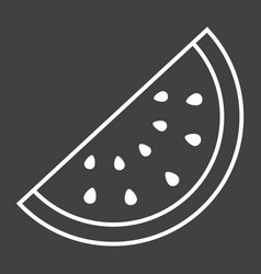 Watermelon line icon fruit and diet vector