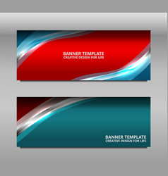 Web banner curve design vector