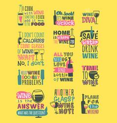 wine hand drawn logo badge vector image