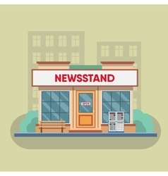 Newsstand selling newspapers and magazines vector