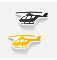 realistic design element helicopter vector image