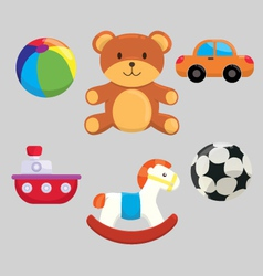 Cute Children Toys Collection vector image
