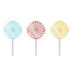 Birthday lollipops isolated vector