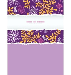 Purple and gold underwater plants vertical torn vector