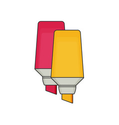 markers pen icon flat style vector image