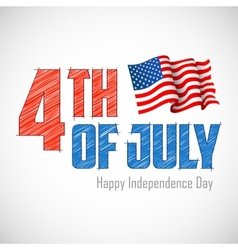 4th of July Background vector image