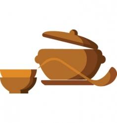 hot meals vector image
