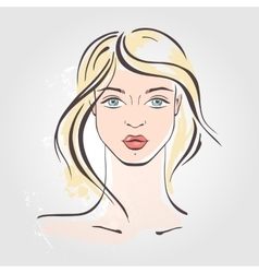 Hand drawn fashion portrait vector