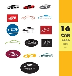 Car shape logo set vector