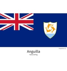 National flag of anguilla with correct proportions vector