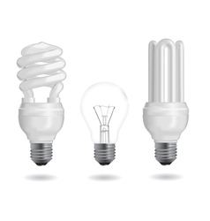 Energy efficiency bulb vector