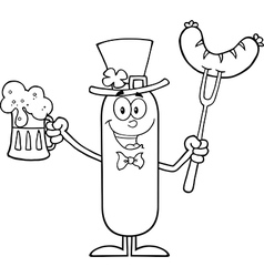 Leprechaun Sausage Cartoon vector image