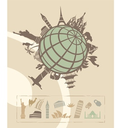 Landmarks around the World vector image