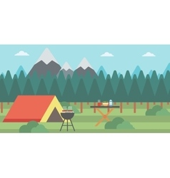 Background of camping site vector image