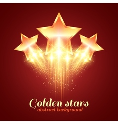 Background with glowing golden stars vector image vector image