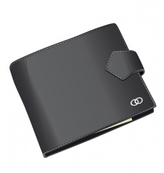 black wallet vector image
