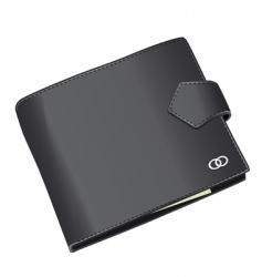 black wallet vector image vector image