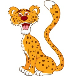 cheetah cartoon vector image vector image