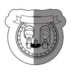 Christmas manger concept vector