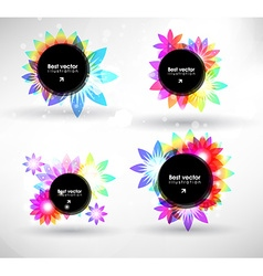 Colourful banner set vector