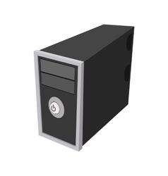 Computer icon in cartoon style vector image vector image