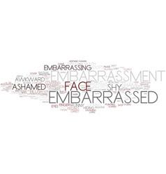 Embarrassment word cloud concept vector