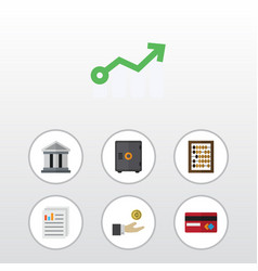 Flat icon finance set of counter document hand vector