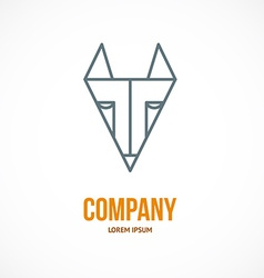 Fox design logo vector