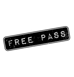 Free pass rubber stamp vector