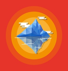 Geometric abstract iceberg vector