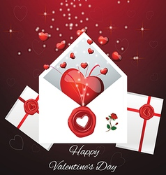 Greeting card for valentines da vector