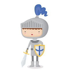 Happy Knight vector image