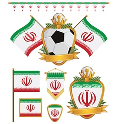Iran flags vector