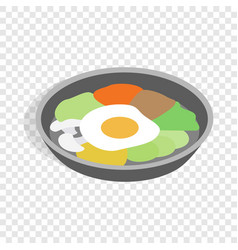 korean dish bibimbap isometric icon vector image