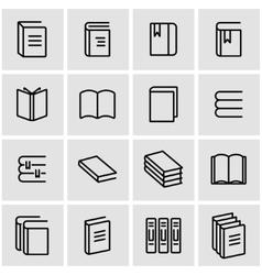 line book icon set vector image vector image