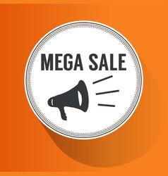Mega sale paper folding design vector