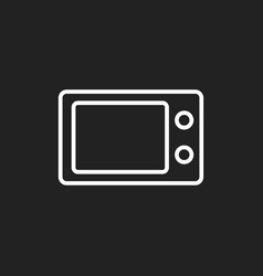 Microwave flat icon microwave oven symbol logo vector