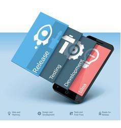 mobile app development icon vector image