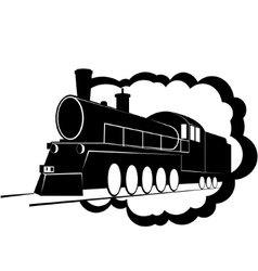 Old steam locomotive-3 vector image vector image