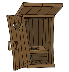 Old wooden latrine vector