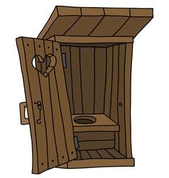 Old wooden latrine vector