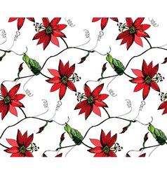 Passiflora pattern2 vector image vector image