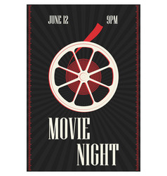 poster or flyer template for motion picture vector image vector image