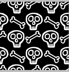 skull with cross-bones vector image